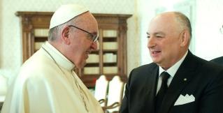 Президент Европейского Еврейского Конгресса Вячеслав Моше Кантор встретился с Папой Римским в Ватикане