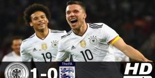 Подольски забил шикарный победный гол в прощальном матче. Немцы победили англичан