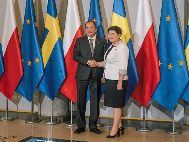 Премьер-министр Швеции Стефан Лёвен посетил Польшу