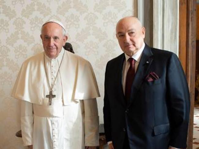 Вячеслав Моше Кантор обсудил с Папой Франциском проведение Форума памяти Холокоста